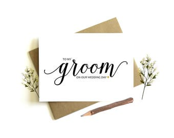 To My Groom Card - To My Groom On Our Wedding Day, Bride to Groom Card, Groom Wedding Card, Groom Card, Groom Card From Bride