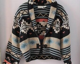 90s Flashback Southwest Blanket Crop Jacket