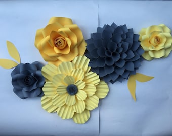 Paper flowers wall decor. Customize your colors