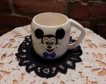Vintage Walt Disney Productions Mickey Mouse Mug, Rare Mickey Mouse Mug, Mickey Mouse, Collectible Mickey Mouse, Morethebuckles