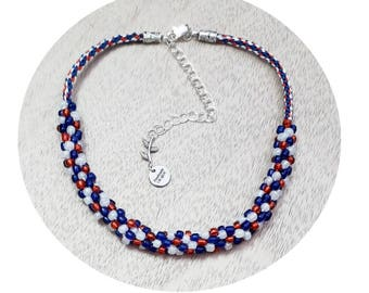 Handmade Kumihimo Braided Beaded Necklaces.