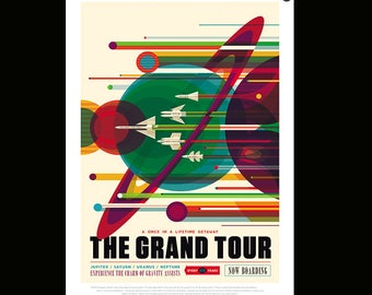 Nasa JPL Travel Poster The Grand Tour Many Sizes Available