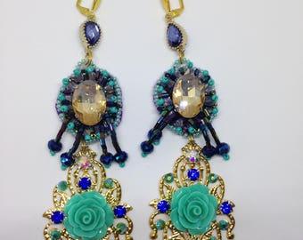 Handmade earrings, Modern earring, Dangle earrings, Long earrings