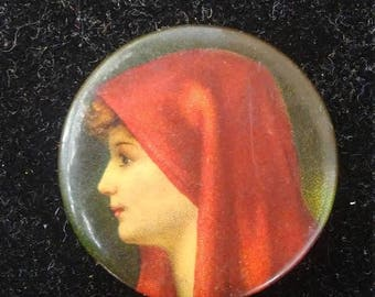 Inventory Sale Vintage Little Red Riding Hood Button