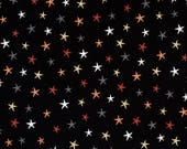 Witchy Black Star fabric for Halloween by Studio E #3708-99