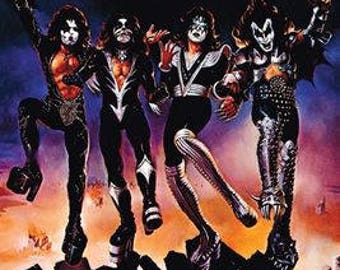 KISS Band Destroyer  Rare Poster