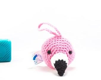 Auto accessory, flamingo car, mirror hanging, car accessory, Crochet flamingo bird to hang in your car, car buddy, flamingo