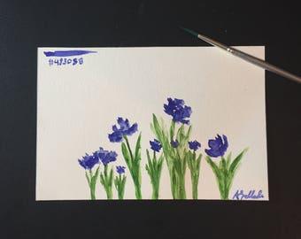 Dark Slate Blue - #483D8B: 4x6 Watercolor Painting
