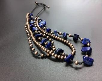 Ankle bracelet of Lapis Lazuli