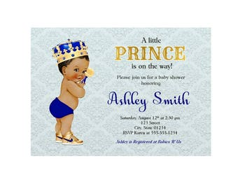 Royal Prince, Royal Baby Shower Invitation, Royal Blue Baby Shower, Baby Shower Invitation, Royal Blue Baby Shower Invitation
