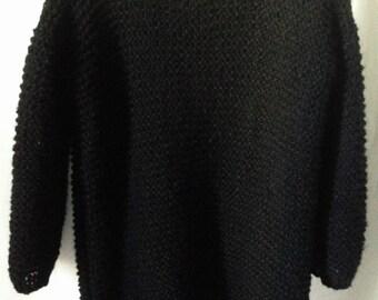 Sweater-dress loose alpaca and silk