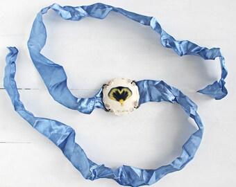Pansy Bracelet, Real Flower Bracelet, Real Flower Band, Pansy Jewelry, Violet Jewelry, Real Flower Jewelry, Adjustable bracelet