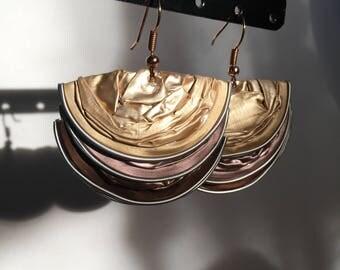 Aluminium pendant earrings with recycled Nespresso Capsules