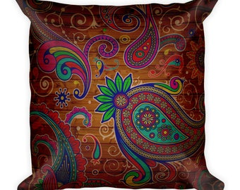 Cool wood effect pattern custom printed Square Pillow