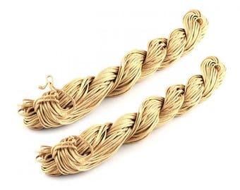 22 m nylon string 1 mm linen color