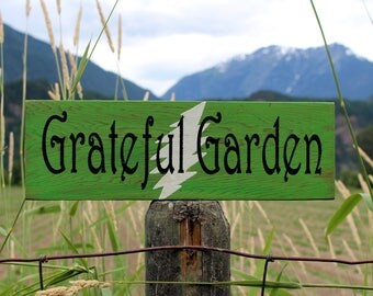 Grateful Dead Garden Sign - Grateful Dead Wall Art - Garden Sign - Outdoor Decor - Yard Art - Dead and Company