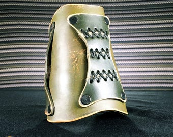 Legacy Bracer, Leather, Hand Made, Single Bracer, 09