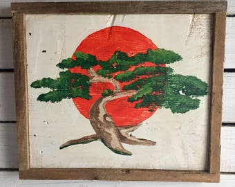Hand Painted Vintage Styled Karate Kid Miyagi-Dojo Sign