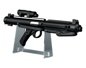Star Wars Stormtrooper E-11 Blaster - Screen Accurate Replica Prop with FREE STAND