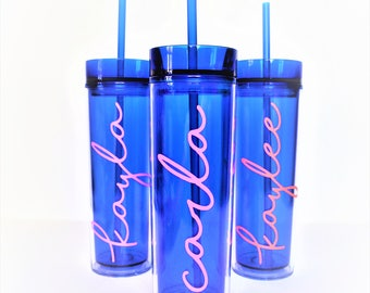 Personalized Tumbler // Bridesmaid Tumbler // Girls Weekend Tumbler // Beach Cup // Pool Cup // Bachelorette Party // Personalized Tumbler