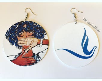 Wooden Earrings - Zeta Phi Beta