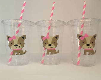Dog Party Cups, Puppy party Cups, Dog Birthday party, Puppy Birthday Party, Dog Baby Shower Cups, Puppy Baby Shower cups