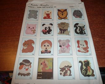 Vintage 1979 Kiddie Komfies Patterns Quilts Wall Hangings Elephant Pattern Uncut