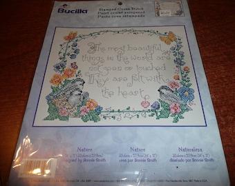 Bucilla Stamped Cross Stitch Kit Nature