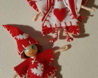 Fairy and Gnome Valentine Duo/ Bendy doll Valentine's