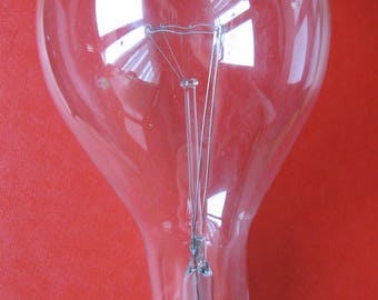 Vintage 300 Watt Light Bulb General Electric Clear Large Base Industrial