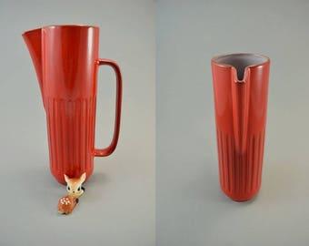 Vintage jug/pitscher made by Gräflich Ortenburg / 934 | West German Pottery | 60s