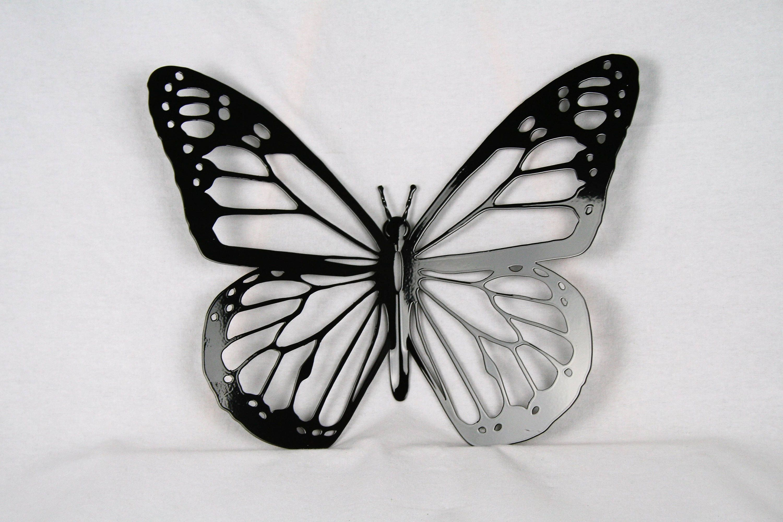 Black Metal Monarch Butterfly Wall Art Metal Butterfly