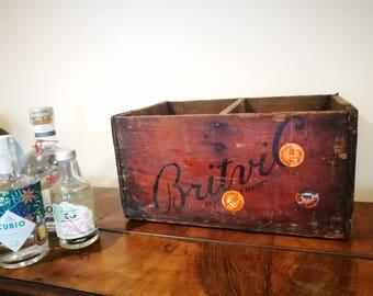 1950's Britvic Wooden Crate