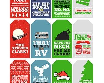 Christmas Vacation Quote Gift Tags | Printable | Typography