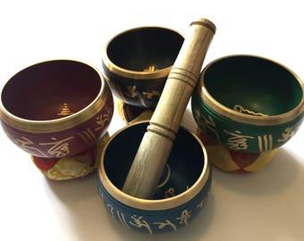 Small Tibetan Singing Bowls