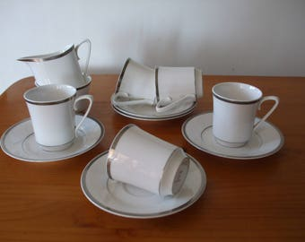 Spode Silver Eternity 12 piece tea/coffee set