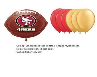 San Francisco 49er's Balloons