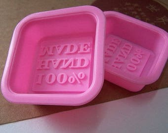"FREE SHIPPING small 2 pc soap/baking/bath bomb ""100% Hand Made"" molds (2 1/2"") 1.5 ounces"