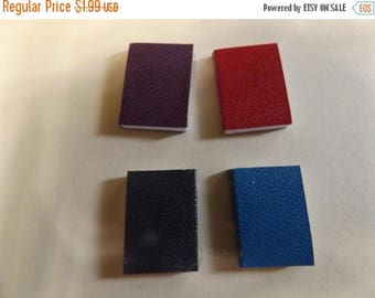Sale Dollhouse Miniature Mini Set of 4 Blank Opening Books 1/12 scale