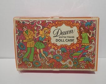 Vintage Topper Dawn Psychedelic Pink 3 Doll Case 1971