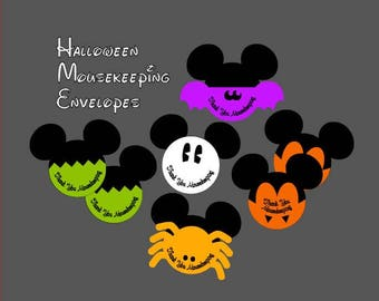 Restocked!! Our Original Set of 7 Halloween Mousekeeping Envelopes - Fab Five