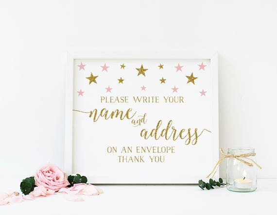 Name And Address Sign, Address An Envelope Sign, Printable