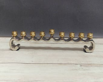 Vintage Menorah/ Menorah/ Small Menorah/ Menorah Hanukkah/ Judaica/ Jewish Holidays/ Chanukah/ Home decor/ Candle Holder/ Brass Menorah