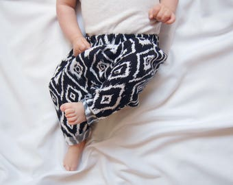 Baby Harem Pants, Toddler Pants, Cotton Pants, Trousers