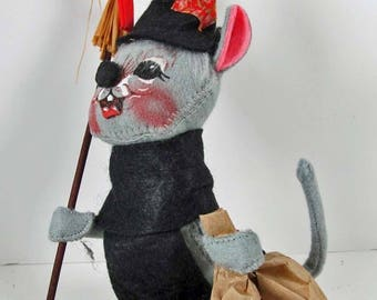 """Halloween #3005 Annalee® Trick or Treat Mouse Doll 7"""" Handmade 1989 USA"""