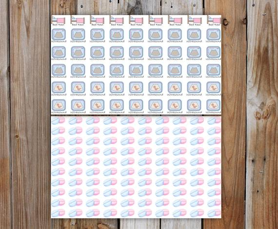 IVF Planner Stickers, DELUXE KIT  Fertility (In Vitro Fertilization) Medical Planner Kit   5 Pages