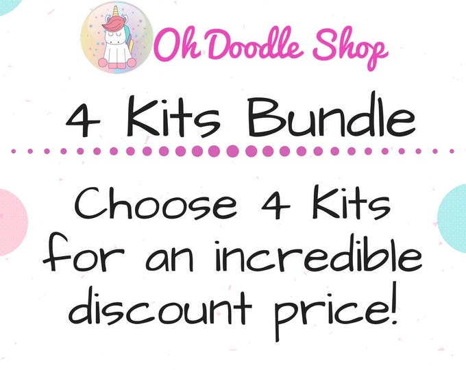 Planner Sticker Kit Bundle |4 Kits of your Choice | Deluxe and Mini Kits | Matte or Glossy