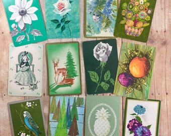 Seeing Green Vintage Playing Cards