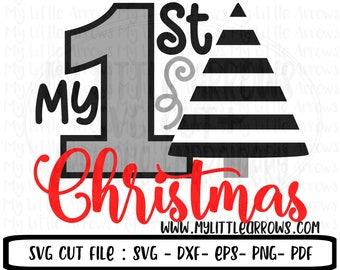 My first Christmas svg ,  My first Christmas dxf, My first Christmas iron on transfer, Christmas Cricut files, EPS, Christmas printable