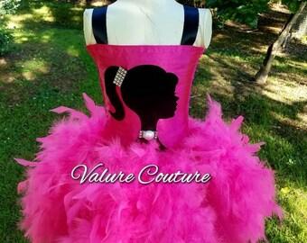 Barbie Inspired Tutu Dress    Facebook.com/ValureCouture     Pinterest.com/ValureCouture ValureCouture.Etsy.com